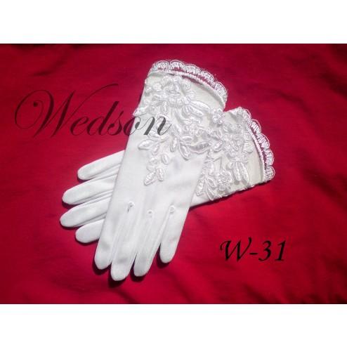 Rękawiczki komunijne- dziewczęce W-31