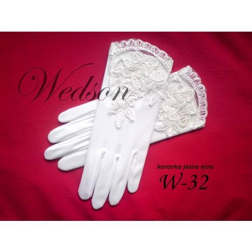 Rękawiczki komunijne- dziewczęce W-32