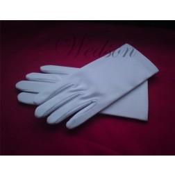 Rękawiczki ślubne białe  - męskie