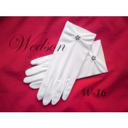 Rękawiczki komunijne- dziewczęce W-16
