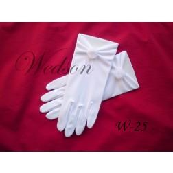 Rękawiczki komunijne- dziewczęce W-25