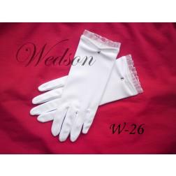 Rękawiczki komunijne- dziewczęce W-26