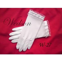 Rękawiczki komunijne- dziewczęce W-27