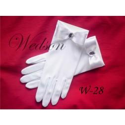 Rękawiczki komunijne- dziewczęce W-28