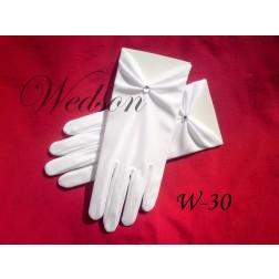 Rękawiczki komunijne- dziewczęce W-30