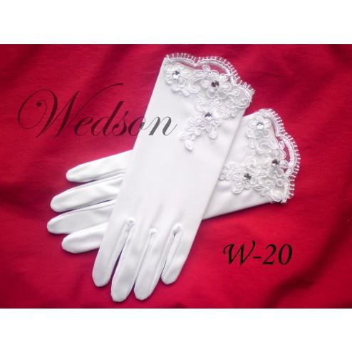 Rękawiczki komunijne- dziewczęce W-20