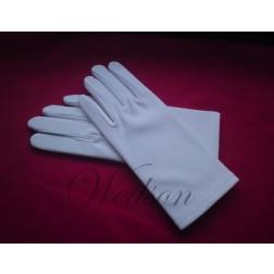 Rękawiczki białe galowe - damskie