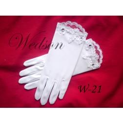 Rękawiczki komunijne- dziewczęce W-21