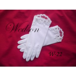 Rękawiczki komunijne- dziewczęce W-22