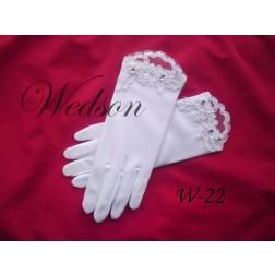 Rękawiczki komunijne- dziewczęce W-22 roz. S