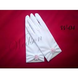 Rękawiczki komunijne - dziewczęce W-04