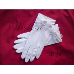 Rękawiczki komunijne- dziewczęce W-24