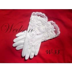 Rękawiczki komunijne- dziewczęce W-33